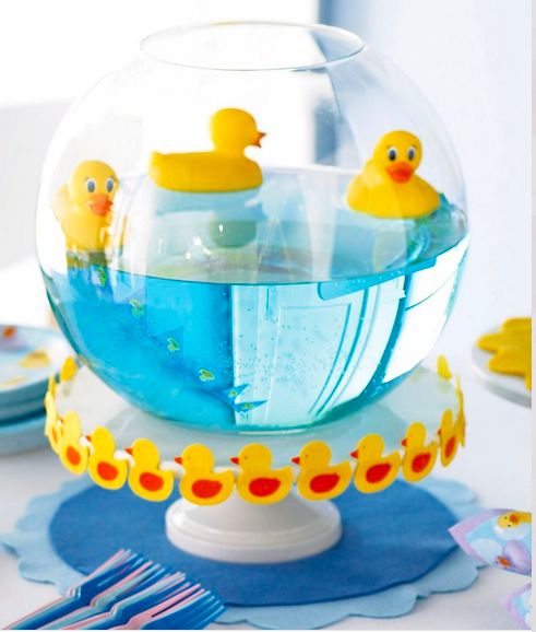 baby shower idea rubber ducky centerpiece trendsgirl